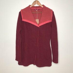 PrAna Milana jacket wool blend redberry coat